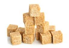 Brown cane sugar cubes Royalty Free Stock Photo