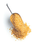 Brown cane sugar. Royalty Free Stock Photography