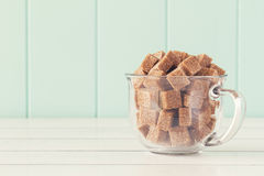Brown cane sugar Royalty Free Stock Photo