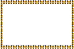 Brown canned photo frame Royalty Free Stock Photos