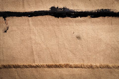 Brown canvas Stock Image