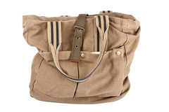 Brown canvas purse Stock Images