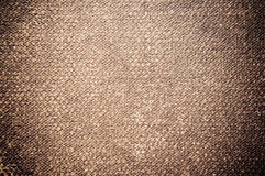 Brown canvas texture Stock Photography