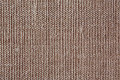 Brown canvas texture or background. Macro photo Stock Photography