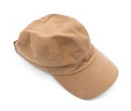 Brown cap. Use protect sun Stock Image