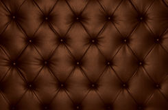 Brown capitone checkered coach leather decoration Stock Photo