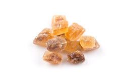 Brown caramelized lump cane sugar cube Stock Photography