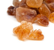 Brown caramelized sugar on white Royalty Free Stock Photography