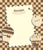 Brown card with muffins Stock Images