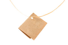 Brown card on string Royalty Free Stock Photography