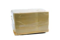 A brown cardboard box Royalty Free Stock Photo