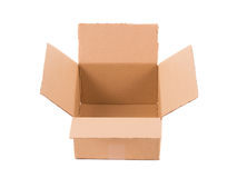 Brown cardboard box. Royalty Free Stock Images