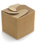 Brown cardboard box Royalty Free Stock Photo