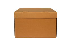 Brown cardboard box Royalty Free Stock Photo