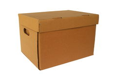 Brown cardboard box Royalty Free Stock Photos