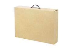 Brown Cardboard Box for Laptop Royalty Free Stock Photos
