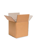 Brown cardboard box Royalty Free Stock Images
