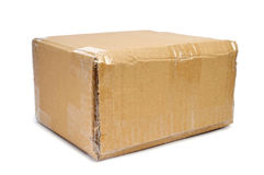 Brown cardboard box sealed with tape Royalty Free Stock Image