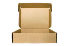 Brown cardboard Box  on White Background Royalty Free Stock Photo