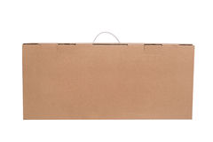 Brown Cardboard Box on White Royalty Free Stock Image