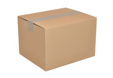 Brown cardboard box Stock Photography