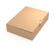 Brown cardboard box Royalty Free Stock Image