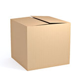 Brown cardboard box Stock Image