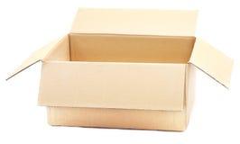 Brown cardboard box. Royalty Free Stock Photos