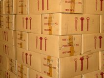Brown cardboard boxes Stock Photography