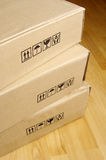 Brown cardboard boxes Stock Photo
