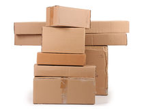 Brown cardboard boxes Stock Image