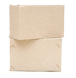 Brown cardboard boxes arranged Stock Photo