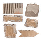 Brown cardboard paper over white background Stock Images
