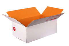 Brown cardboard postal box Royalty Free Stock Photography