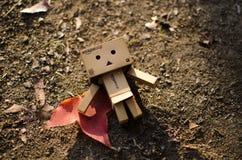 Brown Cardboard Robot Artwork Royalty Free Stock Photo