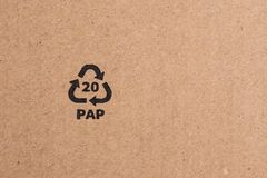 Brown cardboard sheet of paper, abstract texture. For background royalty free stock photography