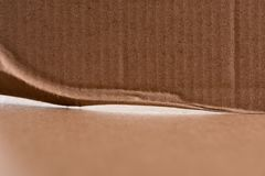 Brown cardboard sheet of paper, abstract texture. For background stock photography
