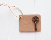 Brown cardboard tag Royalty Free Stock Photo