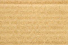 Brown cardboard texture background, horizontal stripes Stock Image