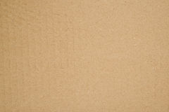Brown cardboard texture fragment Royalty Free Stock Images