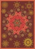 Brown carpet. Original pattern Royalty Free Stock Photography