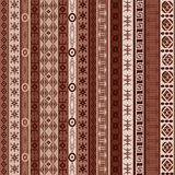 Brown carpet with african elements Royalty Free Stock Images