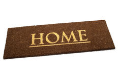Brown carpet doormat Royalty Free Stock Image