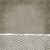 Brown carré et zigzag blanc Backg texturisé grunge déchiré par Chevron Photos libres de droits