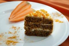 Brown carrot cake Stock Image