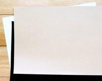 Brown, carta in bianco e nero Immagini Stock