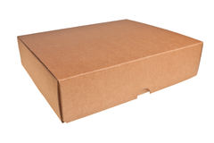 Brown carton box. Brown carton box isolated over white background Royalty Free Stock Images