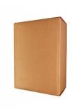 Brown carton box. Brown carton box isolated over white background Royalty Free Stock Photos