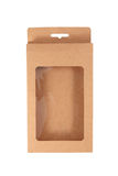 Brown carton box isolated over white background Stock Photos