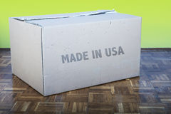 Brown carton box Royalty Free Stock Photography
